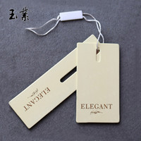 Wholesale Customizable kraft paper label exquisite clothing label label sets Custom paper Gift Cards