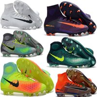 Wholesale Soccer Shoes For Youth - Cheap Mens Women Kids Football Soccer Shoes Hypervenom Boots Mercurial Superfly V FG Youth Soccer Cleats For Boys Magista Obra Football shoe