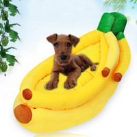 Wholesale Banana Cushion - Pet Bed Cushion Cute Banana Dog Bed For Small And Medium-Sized Dogs Versatile For Four Seasons Dog Accessories Size S