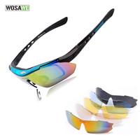 ingrosso occhiali da sole bici uv-Occhiali da ciclismo polarizzati WOSAWE protezione UV Occhiali da ciclismo Occhiali da sole sportivi per biciclette all'aperto con 5 obiettivi BYJ-013