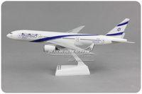 Wholesale Al Alloys - 1:200 EL AL Israel Airlines Boeing 777 32cm alloy metal model aircraft child Birthday gift plane models chiristmas gift