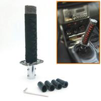Wholesale Samurai Metal - ALL Black JDM Samurai Sword Shift Knob Shifter Katana Metal Weighted Sport With Adapter 150mm