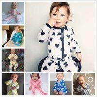 Wholesale sleepsuit romper - INS baby Newborn Infant Pineapple Cotton Long Sleeve Baby Romper Jumpsuit Bodysuits Sleepsuit Children Clothing XT