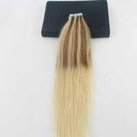 Wholesale Brazilian Hair Packages - Balayage Color #10 Fading To #613 Best Selling 4Pcs Lot Remy Hair Straight Skin Weft Hair Extensions 50G 20Pcs Per Package Bundle