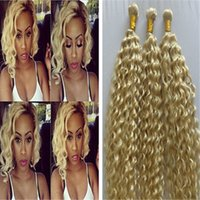 Wholesale Curly European Color 613 - Blonde Brazilian Deep Curly Hair Extensions 7a 100% Human Hair Weave Tight Kinky Curly Hair Deep Wave 3pcs Jerry Curl #613