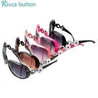 Wholesale Snap Outdoor - Wholesale-Snap Button Sunglasses Women Luxury Fashion Summer Sun Glasses Outdoor Goggles Eyeglasses Fit 18 20mm Snap Button Jewelry