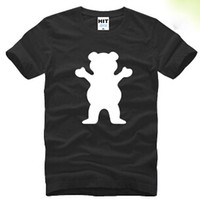 Wholesale Short Grip - New Designer GRIZZLY GRIP Diamond Supply Men's T- Shirt Fashion Cotton Short Sleeve Hip hop T shirt Man Sport Skateboard Clothes Plus Size