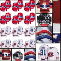 2018 New 100 Classic Authentic Jersey Hombre Montreal Canadiens 31 Carey Price 27 Galchenyuk 67 Pacioretty 6 Shea Weber Jerseys