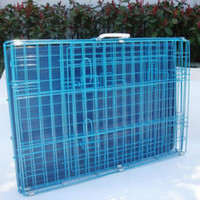 "Wholesale Blue Kennel - New 30"" 2 Door Blue Folding Suitcase Dog Crate Cage Kennel Pan"