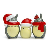 Compra Figure D'azione Mini Anime-3PCS Christmas Cute Mini Figure Giocattoli Modello Anime giapponese Toy Action Figure PVC Dolls Collection Totoro Model