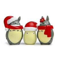 Wholesale Japanese Model Dolls - 3PCS Christmas Cute Mini Figure Toys Japanese Anime Model Toy Action Figure PVC Dolls Collection Totoro Model