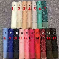 Wholesale Scarf Brand Shawl - Top qualtiy Luxury Brand Scarf Women Brand Big Size 140cm*140cm Scarves quadrate brand design Scarf WomenThick Shawls 17 colors chose