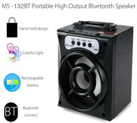 Hot vendendo LED Mini Bluetooth orador quadrado sem fio portátil música Speaker Sound Box Subwoofer TF USB altifalantes para telefone PC