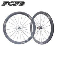 Wholesale Ud Carbon Matt Wheel - 2017 new FCFB 700C 23mm 50mm Clincher UD matt Road Bike Carbon Wheels Fastace RA209 Carbon Bicycle Wheelset ems free shipping