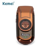 Wholesale Electric Travel Razors - Kemei km-Q788 Portable Electric Shaver 3D Double Floating Rechargeable Beard Razor Reciprocating Shaver Travel Supply for Men