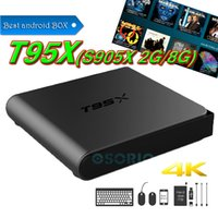 T95X Android box Amlogic S905X Android 6.0 kd 17.1 pre caricato 2GB DDR3 RAM 8GB emmc Flash Miracast Google Streaming Media Player