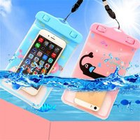 Wholesale Baseball Covers For Iphone - Whosale iphone 6 Universal Cartoon Clear View Waterproof Case Cover Bag Water Proof Diving Underwater Pouch For i6 6plus Samsung S6 Edge