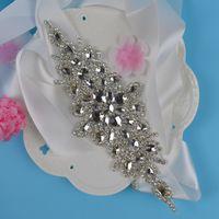 Wholesale Newest Luxury Flowers Dress - Newest Luxury Wedding Sashes 2017 Rhinestone Vintage Crystal Wedding Party Bride Bridesmaid Belt Dress Flower Sash Accessories
