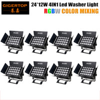 Wholesale Ads Autos - Stage Light China 8 Pack 320W 24x12W RGBW LED Flood Light 4IN1 Wall Washer High Building Indoor Ad Billboard Non Waterproof Silent Working