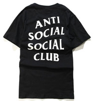 Wholesale Men Swag T Shirt - 2017 Anti Social Social Club T shirt Hip Hop Swag T-shirt Men and Women Brand Clothing Fashion Tees,