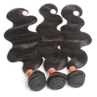Wholesale Cheap Wholesale Chemicals - Body Wave Human Hair Malaysian Hair Bundles No Chemical Brazilian Peruvian Indian Cheap Hair Extensions 3 4 5 Bundle lot