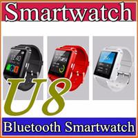 telefones s4 venda por atacado-30x bluetooth smartwatch u8 u relógio inteligente relógio de pulso relógios para iphone 4 4s 5 5s samsung s4 s5 nota 2 nota 3 htc android telefone inteligente a-bs