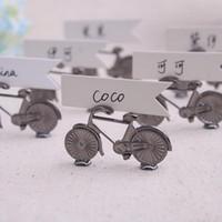 fahrradkarten geben verschiffen frei großhandel-Hochzeits-Platzkartenhalter Fahrrad-Platzkartenhalter mit Karten Hochzeits-Bevorzugungs-Tabellen-Dekorationen DHL geben Verschiffen frei