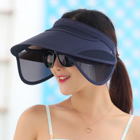 Wholesale Ultraviolet Rays Sun - Korean Flexible Air Top Women plastic Sun visor Hat Summer Fold Sunscreen Outdoors Sandy Beach Defence Ultraviolet Rays Sun Hat