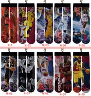 мальчики печатают носки оптовых-Чулки мальчики девочки средние носки баскетбол бег спорт длинные носки мужчины женщины взрослые 3D печатных носки индивидуальный стиль
