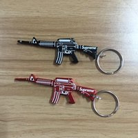 Wholesale Toys Outdoor Chain - supre Key chain Men's car keys pendant Outdoor toy