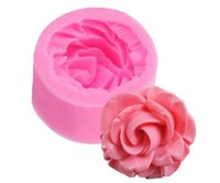 Wholesale Silicone Bake Forms - Wholesale- 1 pc 3D Rose Flower Fondant Silicone Mold Mould 3.5x3.5x1.6cm Baking Cake Cookies Form Chocolate Soap Sugar Craft Cupcake E160