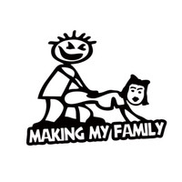Wholesale 2017 Hot Sale Making My Stick Figure Family Funny Vinyl Decal Car Styling Banging Decal Bumper Sticker Decorative JDM