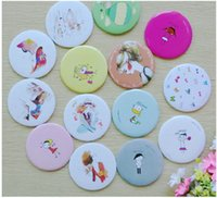 Wholesale Small Hand Mirrors - Small Cute Cartoon Pocket Mirror Hand Makeup Compact Mirrors Portable Professional Mini Cosmetics Mini Beauty Make Up Tools