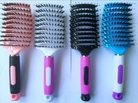 Wholesale Detangling Hairbrush - Abody Bristle & Nylon Detangle Hairbrush Women Hair Scalp Massage Comb Wet Hair Brush for Hairdressing Salon AA