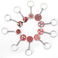 Wholesale Konoha Pendant - Hot Anime Naruto Konoha Kakashi Akatsuki Cosplay Accessories Fashion Alloy Key Ring Men's fashion cool pendant