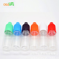 Wholesale Electronic Cigarettes Bottles - 2016 New Arrival Sale Dropper Bottle for E Liquid with Childproof Caps 5ml 10ml 15ml 20ml 30ml 50ml Electronic Cigarette Plastic Pet Bottles