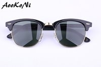 Wholesale Dark Sunglasses Driving - AOOKONI UV400 Polarized Sunglasses Women Men Fishing Sun glasses Glass UV 400 Protection G15 Dark Green Polarizing lens New Hinges 49 51mm
