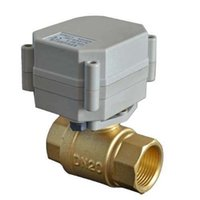 """Wholesale Valve Actuator - 2 way brass shut off ball valve, 1 2"""" BSP female thread, DC24V, CR701 wire control , A20 series grey actuator, without indicator,"""