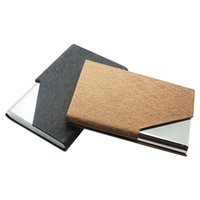 Wholesale Velvet Clutch Wholesale - PU Leather Stainless Velvet Purse Business Name ID Credit Card Holder Case Box E00025 BARD
