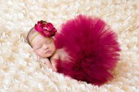Wholesale Newborn Hats For Photography - Red Baby Photo Props Tulle Baby Girl Tutu Skirt Bowknot Newborn Photography Props for 0-3 Months