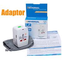 Wholesale international adapters online - Travel universal wall charger power adapter for plug Surge Protector Universal International Travel Power Adapter Plug US UK EU AU AC Plug
