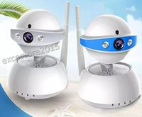 Wholesale Security Camera W - Wireless Pan Tilt Security CCTV Network IP 720P Camera Night Vision WIFI Webcam Box Body Color Day B&W Night