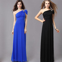 Wholesale Evening Dress Stock - XL-4XL In stock Special Occasion Long Evening Dresses Plus Sizes Women Party Clothing Hand Beading One Shoulder Empire Pleats Maxi Gown