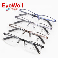Wholesale Eyeglasses Picture Frame - Wholesale- Super thin and light alloy metal men optical frame picture temple most popular fashion eyeglasses 2016 hot selling