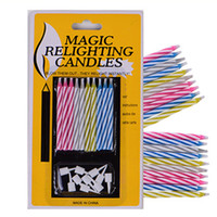 Wholesale Magic Relighting Candles - Long Thin Cake Candles Party Magic Candle For A Birthday Party Easter Holidays Multi Color Creative Ideas