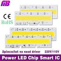 Wholesale- 2piece / lot LED Hight puce puce perles de lumière 30W 50W 70W 100W 120W 150W 110V 220V Entrée IP65 Smart IC pour DIY LED Sport Light