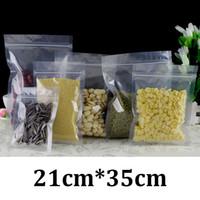 pe sacs en plastique zip lock achat en gros de-21x35cm HD clair en plastique de qualité alimentaire emballage PET PE plat refermable zip verrouillage sacs en plastique