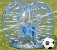 Wholesale Inflatable Human Body - 1.5m 0.8mm Inflatable Bumper Football Body Zorbing Bubble Soccer Ball Human Bouncer