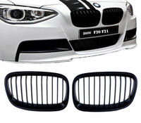 Wholesale bmw series black kidney grills for sale - 2x Matte Black For BMW Series F20 F21 M Performance Sport Front Grill Kidney Grille P12