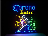 Wholesale Corona Neon - Fashion Handcraft CORONA EXTRA TROPICAL FISH MEXICOReal Glass Tubes Beer Bar Pub Display neon sign 19x15!!!Best Offer!